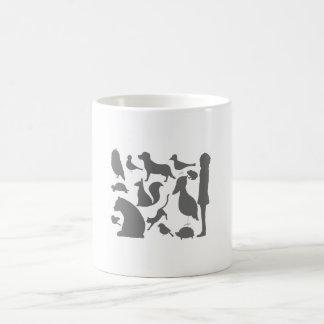 animal silhouettes basic white mug