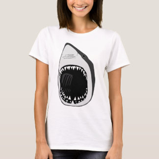 animal t-shirt white shark weisser hai scuba