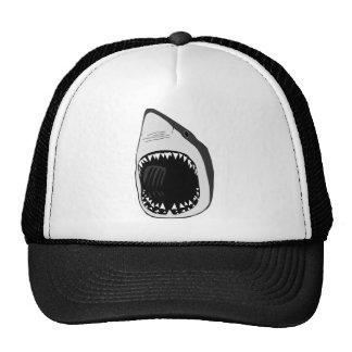 animal t-shirt white shark weisser hai scuba cap