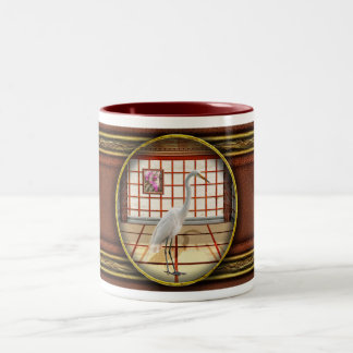Animal - The Egret Two-Tone Coffee Mug