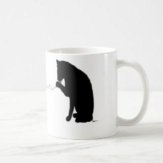 """animal writes"" classic white coffee mug"
