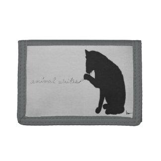 """animal writes"" trifold wallets"