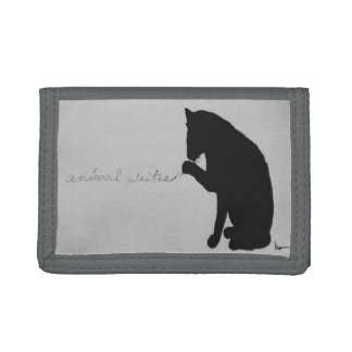 """animal writes"" trifold wallets"