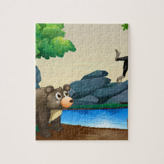 Animals and river jigsaw puzzle