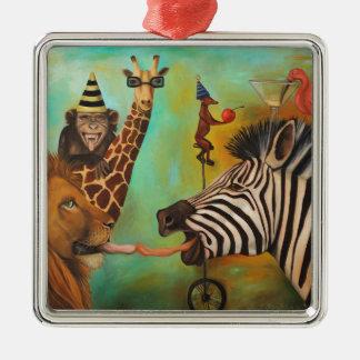 Animals Gone Wild Christmas Ornament