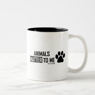 animals matter Two-Tone mug
