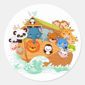 Animals On Noahs Art Stickers