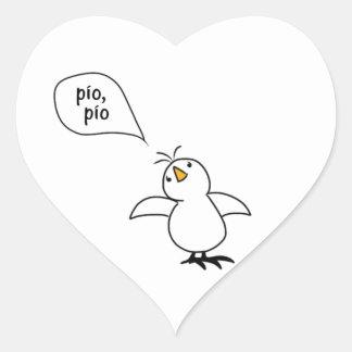 Animals Speak Spanish Too! Merchandise Heart Sticker