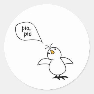 Animals Speak Spanish Too! Merchandise Round Sticker