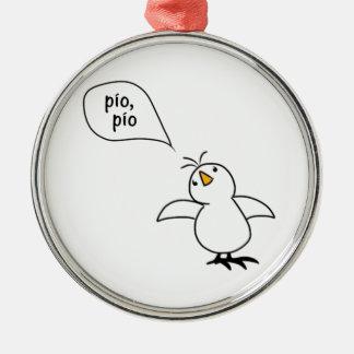 Animals Speak Spanish Too! Merchandise Silver-Colored Round Decoration