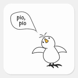 Animals Speak Spanish Too! Merchandise Square Sticker
