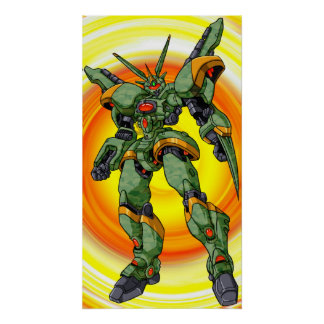 Anime Camo Robot Posters