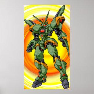Anime Camo Robot Poster