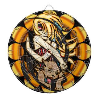 Anime Girl with Bobcat Dartboard