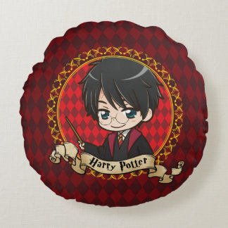 Anime Harry Potter Round Cushion