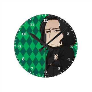 Anime Professor Snape Round Clock