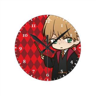 Anime Ron Weasley Round Clock
