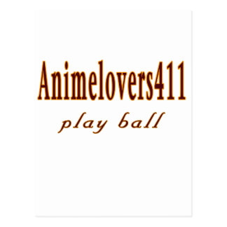 Animelovers411 Baseball games Post Card