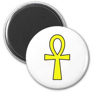 Ankh Egyptian Hieroglyphic Symbols Life Key Yellow Magnet