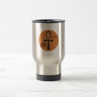 Ankh Hieroglyphic Stainless Steel Travel Mug