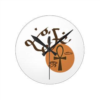 Ankh Life Round Clock
