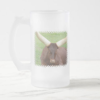 Ankhole Cattle Frosted Beer Mug