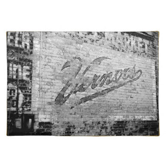 Ann Arbor Michigan Vernor's Brick Wall Vintage Placemat
