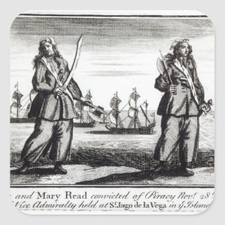 Ann Bonny and Mary Square Sticker