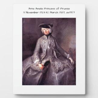 Anna Amalia Princess of Prussia av1757 Plaque