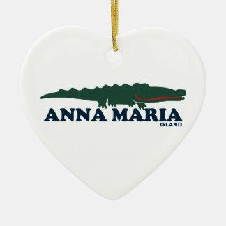 Anna Maria Island - Alligator. Christmas Ornament