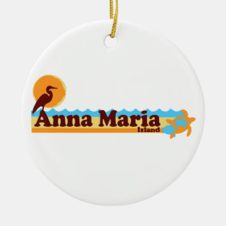 Anna Maria Island - Beach Design. Christmas Ornament