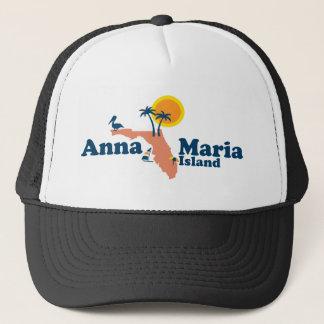 Anna Maria Island - Map Design. Trucker Hat