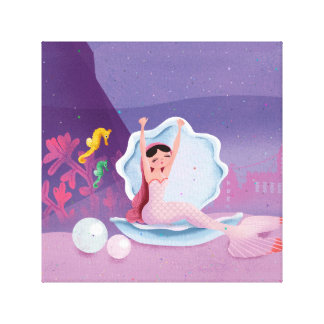 Annabella the Mermaid waking up Canvas Print