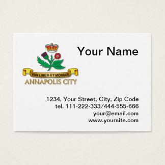 Annapolis city flag business card
