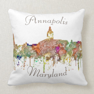 Annapolis, Maryland Skyline - Faded Glory Cushion