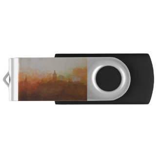 Annapolis Maryland Skyline IN CLOUDS USB Flash Drive