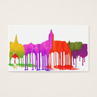 ANNAPOLIS MARYLAND SKYLINE PUDDLES - BUSINESS CARD