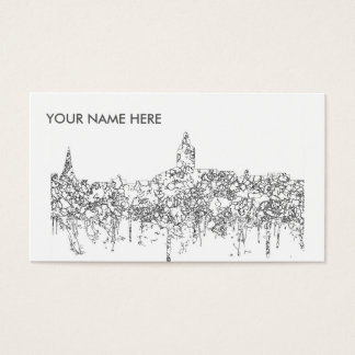 Annapolis Maryland Skyline SG-Black & White Business Card