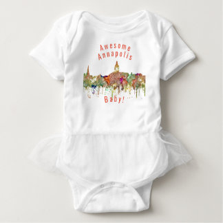 Annapolis Maryland Skyline SG - Faded Glory Baby Bodysuit