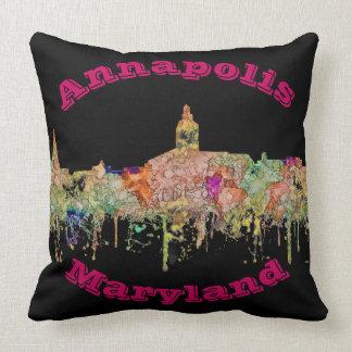 Annapolis Maryland Skyline SG - Faded Glory Cushion