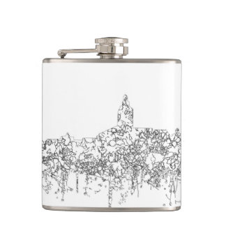 Annapolis Maryland Skyline SG-Safari Buff Hip Flask