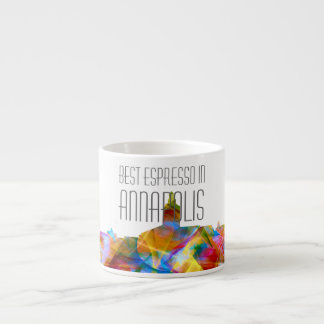 ANNAPOLIS MARYLAND SKYLINE VIBRANCE - ESPRESSO CUP