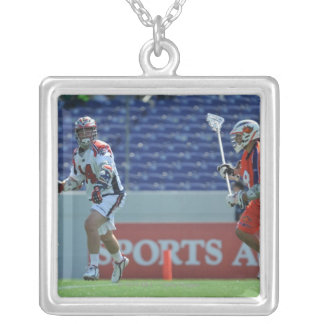 ANNAPOLIS, MD - AUGUST 28:  Ryan Boyle #14 3 Silver Plated Necklace