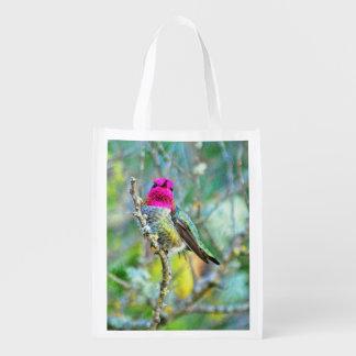 Anna's Hummingbird Reusable Grocery Bag