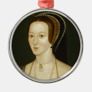 Anne Boleyn Silver-Colored Round Decoration