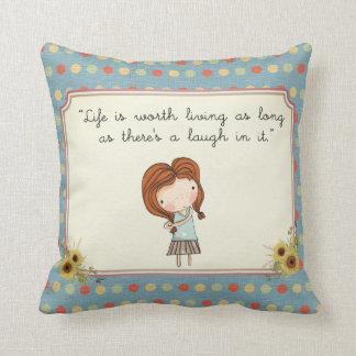 Anne Classic Literature Quote Vintage Nursery Cushion