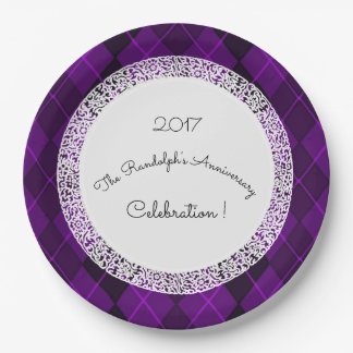 Anniversary-Celebration_Template(c)Purple-Jewel Paper Plate