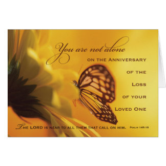 Anniversary Death of Loved One Butterfly Card