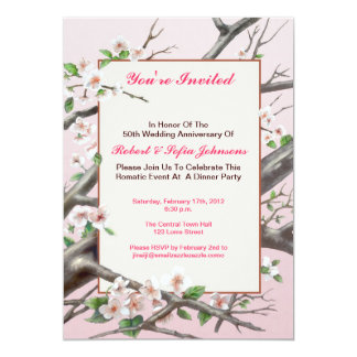Anniversary dinner invitation - pale pink