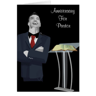 Anniversary for Pastor Card